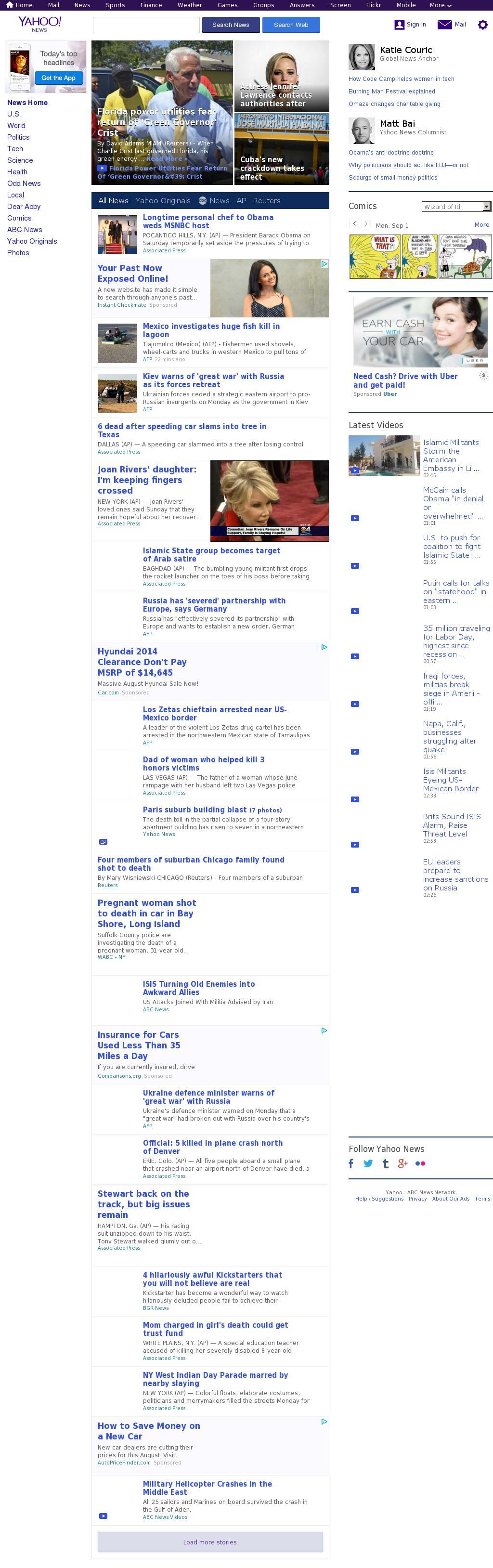 Yahoo! News at Tuesday Sept. 2, 2014, 1:24 a.m. UTC